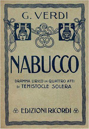 Portada Ópera Nabucco
